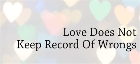 What Is A Marriage Record What Is Part 9 Keeps No Record Of Wrongs