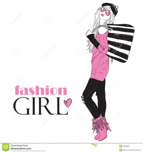 imagenes cumpleaños fashion fashion girl in sketch style stock vector image 29083207