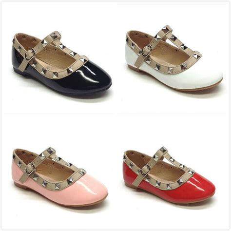 toddler size 8 dress shoes brand new infant toddler fashion studded flat dress shoes size 4 8 ebay
