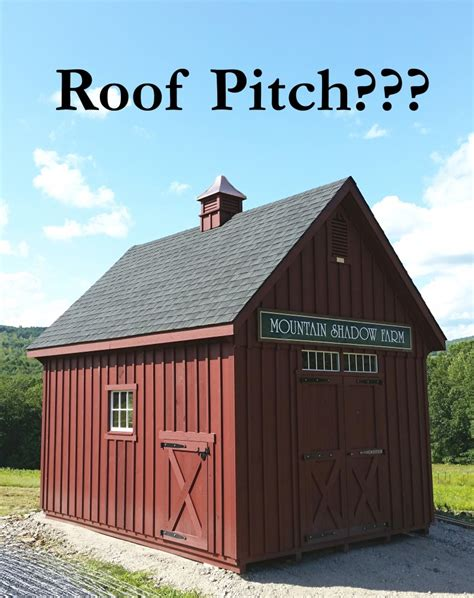 Shed Roof Pitch by Faq S What Does Roof Pitch Custom Barns And