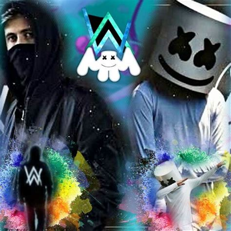 marshmello vs alan walker alanwalker marshmello dj image by alejandro
