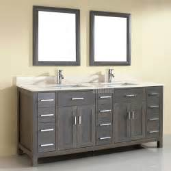 Bathroom Vanity Mirror Ideas sink bathroom vanity distressed gray 36 quot contemporary