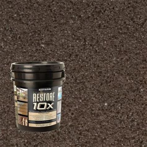 rust oleum restore 4 gal autumn brown deck and concrete 10x resurfacer 46502 the home depot