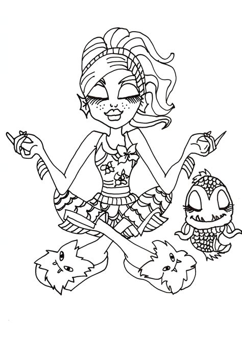 monster high coloring pages great scarrier reef monster high coloring pages great scarrier reef coloring