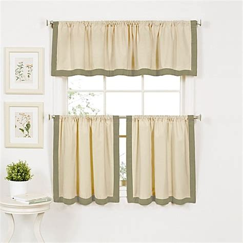 sage window curtains buy wilton window curtain valance in sage from bed bath