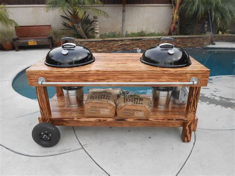 weber kettle grill table plans 17 best images about bbq on smoked brisket