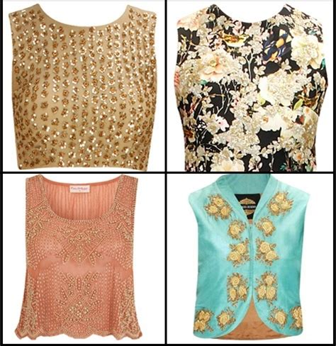 top ideas how to wear crop tops as blouses for wedding functions