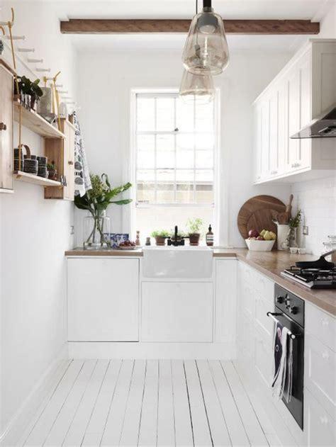 cuisine blanche sol noir la cuisine blanche et bois en 102 photos inspirantes