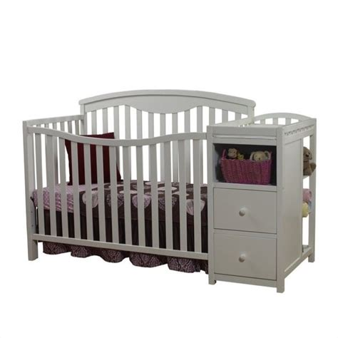 Convertible Crib With Changer Sorelle Changer White Baby Crib Set Ebay