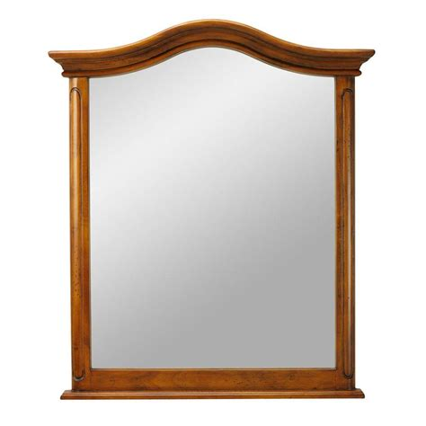 home decorators collection provence 28 1 2 in w x 33 in l wall mirror in chestnut 1112900970