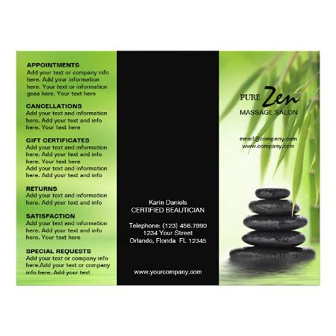 templates for massage flyers 270 massage flyers massage flyer templates and printing