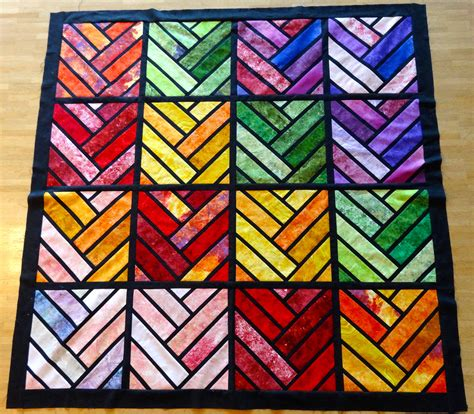 Stained Glass Quilting by Aeroplane Bag Pattern Lynne Pusscat Quilting Junkie