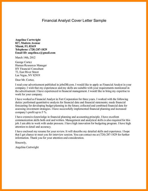 Cover Letter For Data Analyst by Data Analyst Cover Letter Resumes
