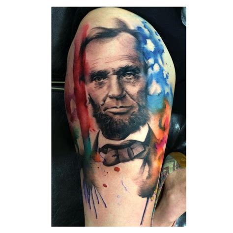 abraham lincoln tattoo abe lincoln by lianne moule tattoonow