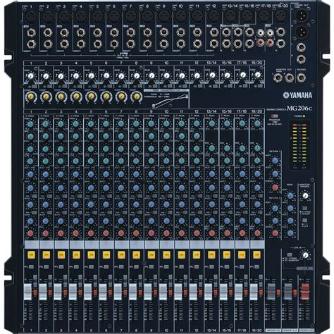 Mixer Audio Yamaha 6 Channel yamaha mg206c 20 channel analog mixing console cps