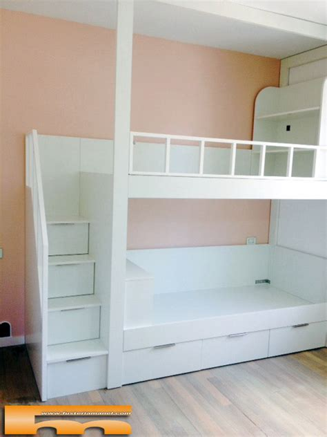 litera escalera cajones habitacion infantil miren guipuzkoa