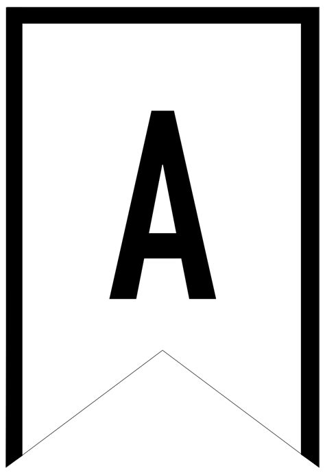 banner templates printable abc letters happy