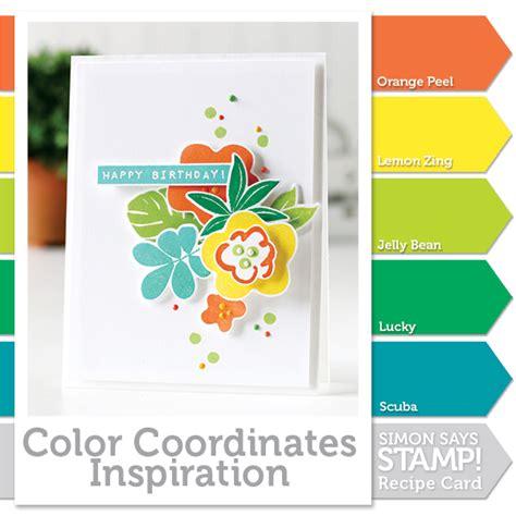 color coordinates color coordinates tropical splash new product simon