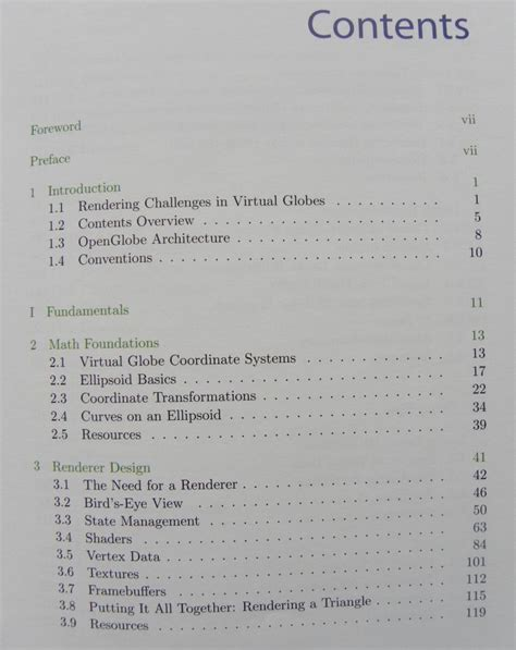 Book Table Of Contents by Book Review 3d Engine Design For Globes Geeks3d