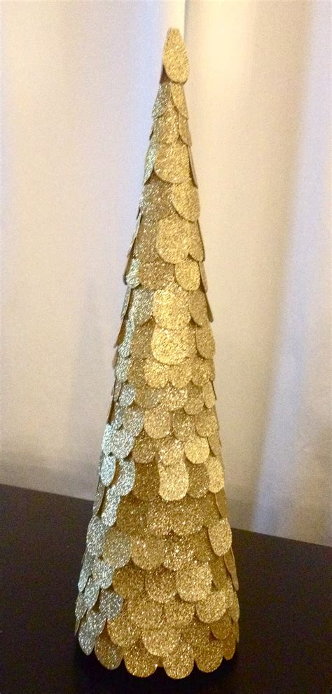 silver sparkling mesh beaded cone tree trees