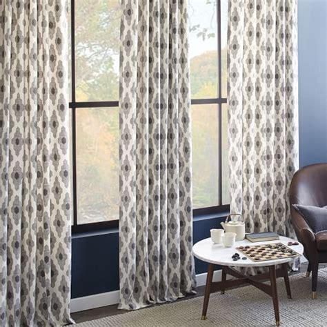 west elm curtains cotton canvas bazaar curtain platinum west elm