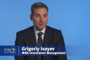 Mba Investment Managment Pace by Mba In Investment Management In New York Lubin School Of