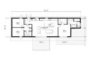 Rectangle House Plans One Story Modern Style House Plan 3 Beds 2 Baths 1356 Sq Ft Plan