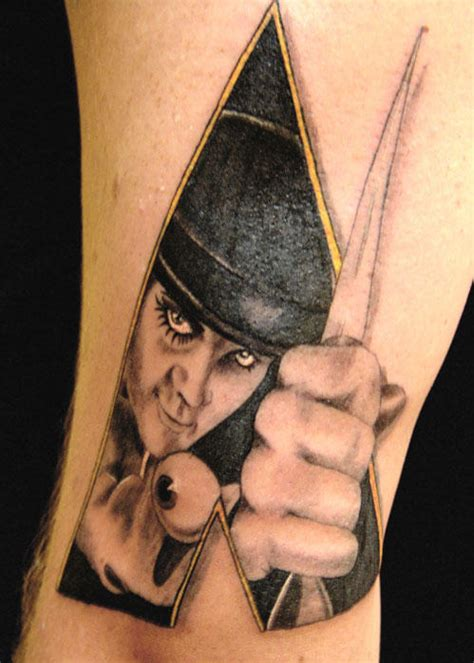 clockwork tattoo clockwork orange tattoos boy