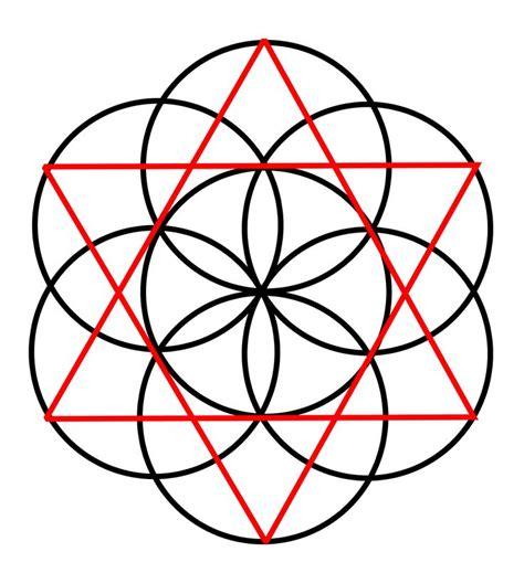 seed of life tattoos pinterest sacred geometry