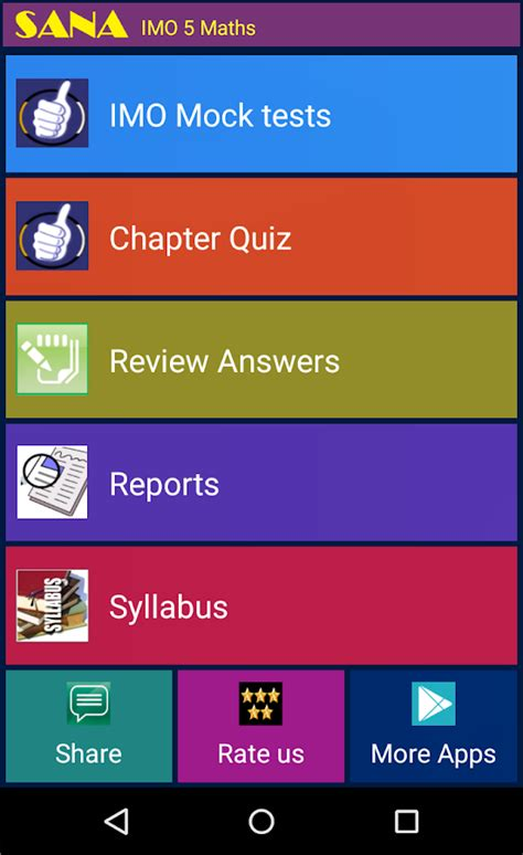 Play Store Imo Imo 5 Maths Olympiad Android Apps On Play