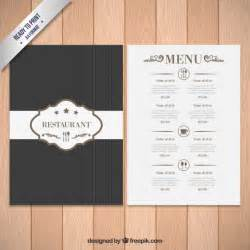 illustrator menu template menu template vector free