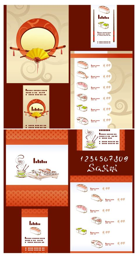 sushi menu templates vector vector graphics blog