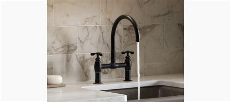 kohler parq two hole deck mount kitchen sink faucet with 9 standard plumbing supply product kohler parq 174 k 6130 3