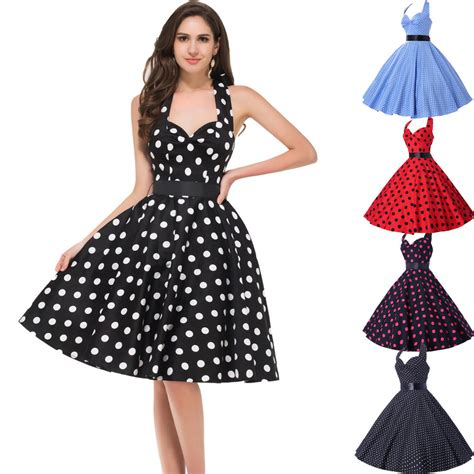 50s swing fashion 50s 60s style womens vintage dresses pinup polka dots