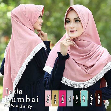 Sarimbit Batik Tania Cardigan hijabjilbab tania rumbai baju gamis terbaru