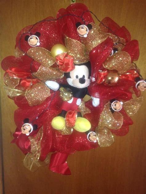 diy corona navide a de mickey mouse mickey s christmas wreath decoracion navidad 950 00 en mercado libre