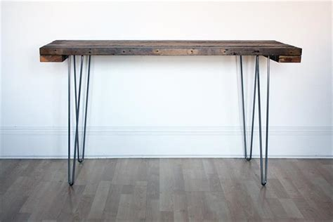 diy console table legs wood industrial console table with steel hairpin legs pallet furniture plans