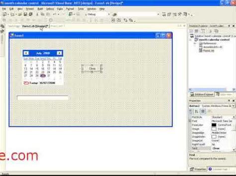 design calendar in vb net viscomsoft tutorial how to create calendar with vb net