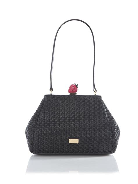 Moschino Cheap Chic Slitted Shoulder Bag by Moschino Cheap Chic Strawberry Shoulder Bag In Black Lyst