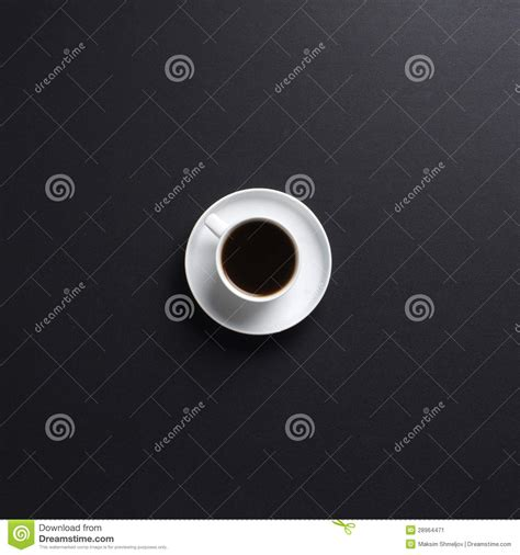 Black Coffee Aromatic One by One White Cup Of Aromatic Coffee Stock Photography