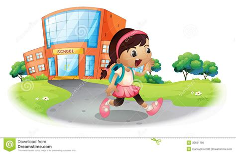 a student going home from school royalty free stock