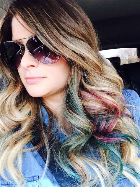 peekaboo color peekaboo color highlights hair ideas