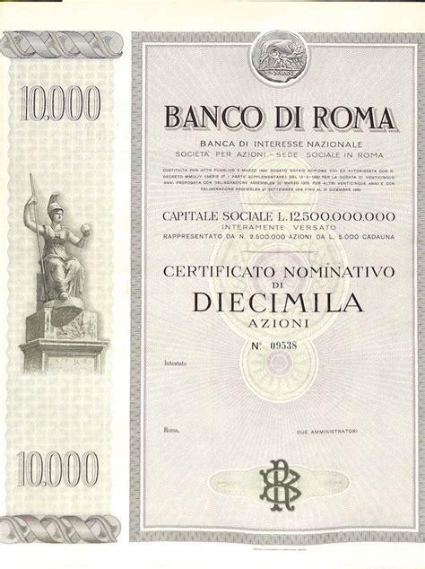banco di roma banco di roma scripomuseum