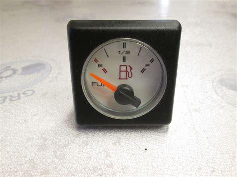 boat gauges square 1990 bayliner capri white face square fuel gauge green