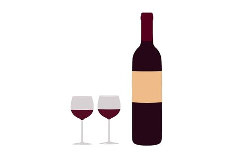 wine clipart wine bottle and glasses clip art objects creative market