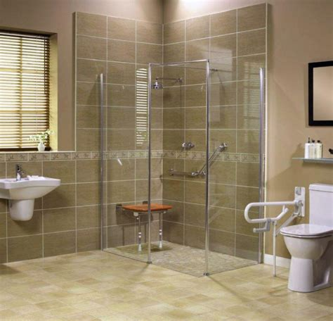 Roll In Handicapped Shower With Barrier Free Shower Base Handicapped Bathroom Showers