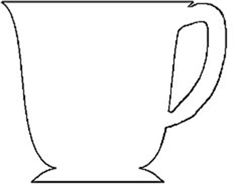 coffee cup card cutout template 7 best images of tea cup template free printable tea cup