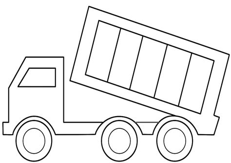 Coloring Page Of Dump Truck | free printable dump truck coloring pages for kids