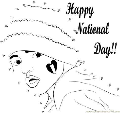 coloring pages for uae national day celebrate the event dot to dot printable worksheet