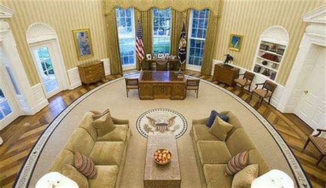 oval office renovation sunburst rug makes way for classic quotes in oval office